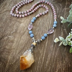Citrine feature Mala necklace