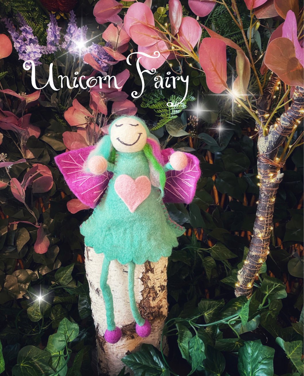 Unicorn Fairy large - felt fairy