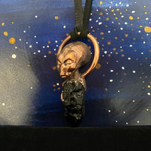 Load image into Gallery viewer, Meditating Pleiadian Relic Necklace with Tektite