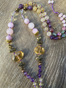 Amethyst point Mala necklace