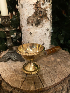 Incense Burner - Brass with handle