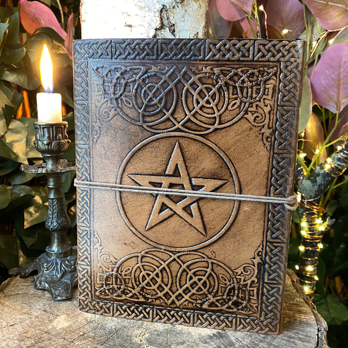 Embossed Leather Pentacle Journal