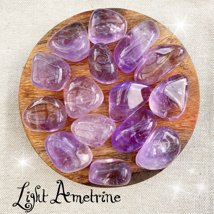 Light Ametrine tumbled stone