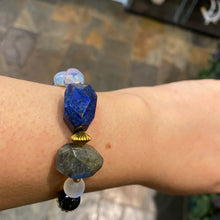 Load image into Gallery viewer, Celestial Moon multi stone bracelet
