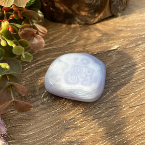 Blue Lace Agate polished crystal form