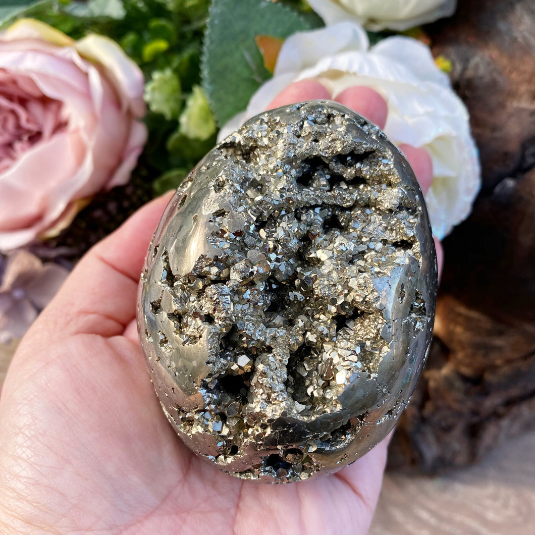 Pyrite crystal egg