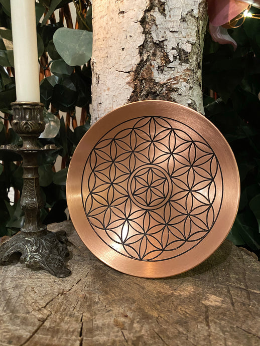 Flower of Life - copper dish