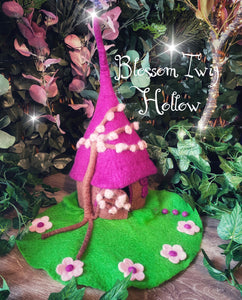 Blossom Twig Hollow - Felt Fairy house