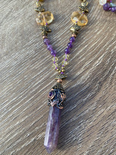 Load image into Gallery viewer, Amethyst point Mala necklace