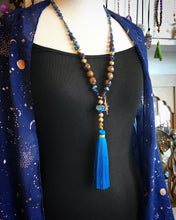 Load image into Gallery viewer, Aura Tiger Eye and Aura Agate Geode Mala necklace