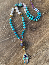 Load image into Gallery viewer, Hamsa Evil Eye Mala necklace