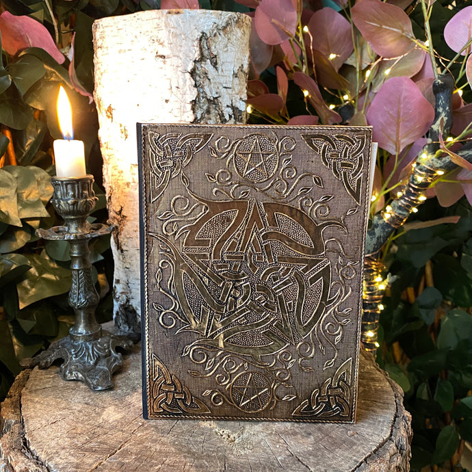 Brass Embossed Pentacle Journal