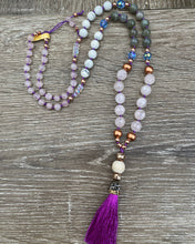 Load image into Gallery viewer, Crystal bead Mala Prayer bead necklace