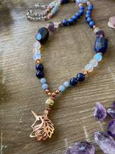 Load image into Gallery viewer, Lapis Lazuli Unicorn Mala Necklace