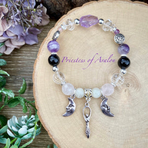 Priestess of Avalon - crystal bracelet