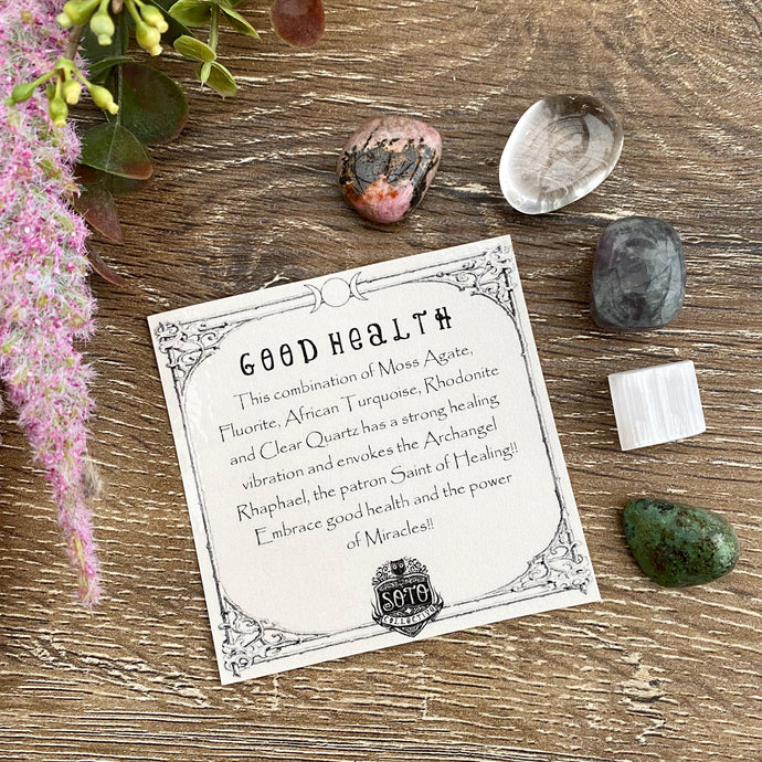 Good Health - crystal healing pack