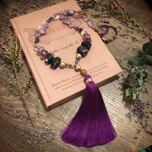 Load image into Gallery viewer, Charoite and Amethyst Mala necklace
