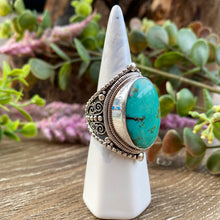 Load image into Gallery viewer, Turquoise sterling silver ring