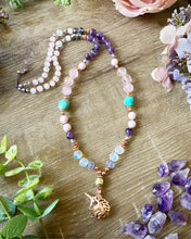 Load image into Gallery viewer, Rose Quartz Unicorn Mala necklace