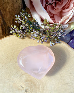 Rose Quartz Heart - Polished form