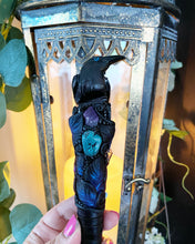 Load image into Gallery viewer, Black Onyx Raven Wand