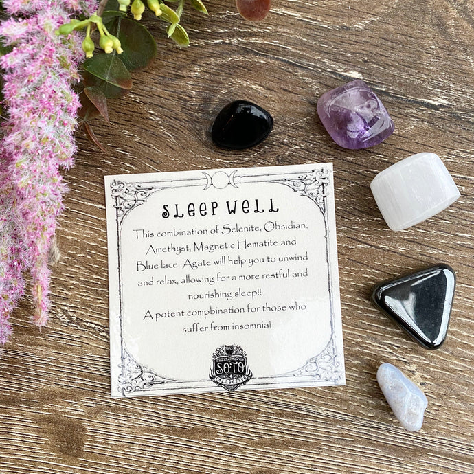 Sleep Well - crystal healing pack