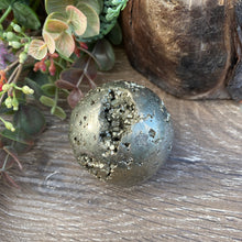 Load image into Gallery viewer, Pyrite crystal Sphere