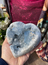 Load image into Gallery viewer, Celestite carved crystal heart