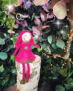 Miss Queen Flower - felt fairy