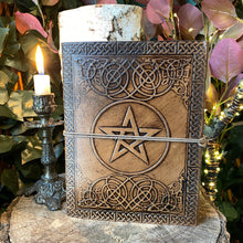 Load image into Gallery viewer, Embossed Leather Pentacle Journal