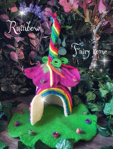 Rainbow - Felt fairy home