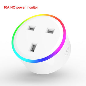 Lonsonho Smart Plug Wifi Smart Socket Tuya Smart Life App EU France US AU UK Poland Korea Plug Alexa Google Home Mini IFTTT