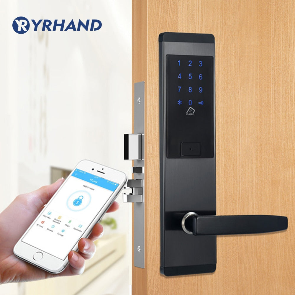 Security Electronic Door Lock, APP WIFI Smart Touch Screen Lock,Digital Code Keypad Deadbolt For Home Hotel Apartment