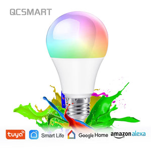Tuya Smart Life APP Dimmable E27 WiFi RGB LED Bulb Light Voice