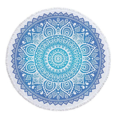 Blue - Cyan Transition Mandala Blanket - Spiritual Wear