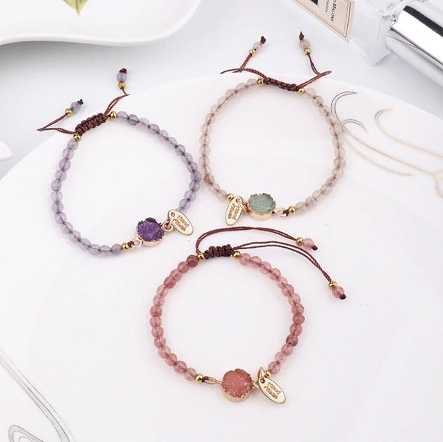 Colorful Raw Crystal Bracelet - Spiritual Wear