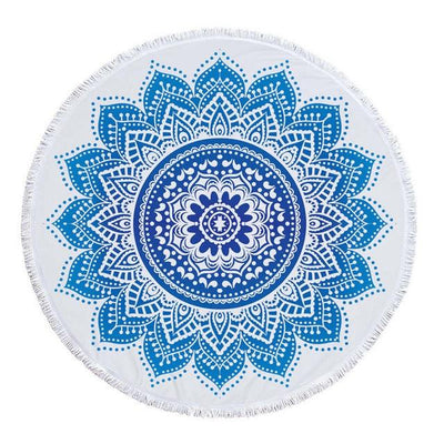 Cyan - Blue Transition Mandala Blanket - Spiritual Wear