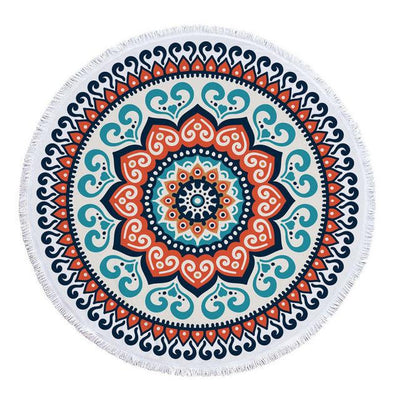 Cyan - Orange Transition Mandala Blanket - Spiritual Wear