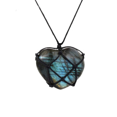 Handcrafted Labradorite Orbit Necklace - Spiritual Wear