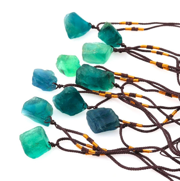 Handmade Aqua Fluorite Necklace - Spiritual Wear