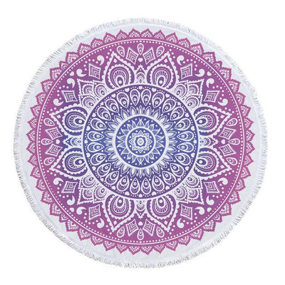 Pink - Blue Transition Mandala Blanket - Spiritual Wear
