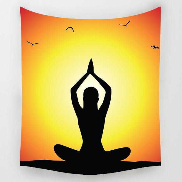 Sunset Yogi Tapestry - Spiritual Wear