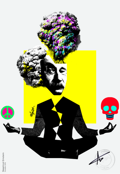 Skeptical Einstein Print