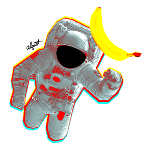 """Space Fruit"" Sticker"