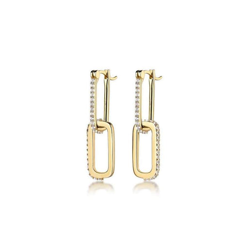 Double Dylan Gemstone Link Earring