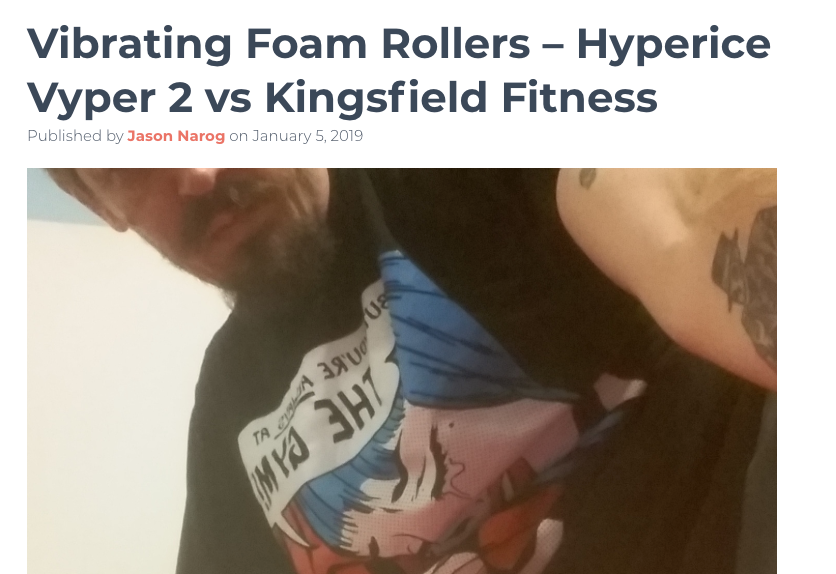 Hyperice Vyper vs Kingsfield Fitness Vibrating Foam Roller