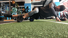 Foam rolling helps activate muscle groups