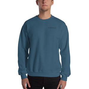 Crew neck sweatshirt. Black and Green. Kingsfield Fitness