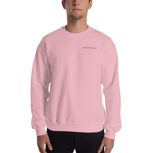 Crew neck sweatshirt. Pink and Black. Kingsfield Fitness