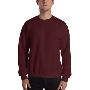Crew neck sweatshirt. Black and Red. Kingsfield Fitness